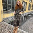 BLACK COLOUR - CAMOUFLAGE KENNA DRESS